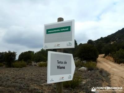 Monumento Natural Tetas de Viana - Trillo; fines de semana; excursiones madrid